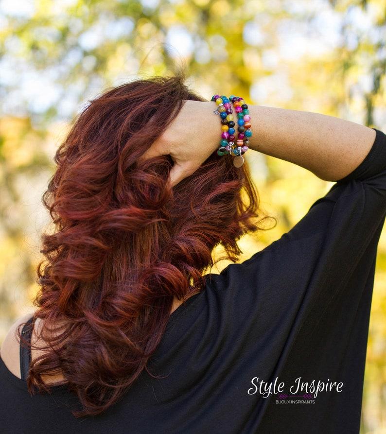 inspiration,stainless steel,charm brown yellow jade white turquoise stone red tiger eye creme handmade,jewel,fashion Bracelet