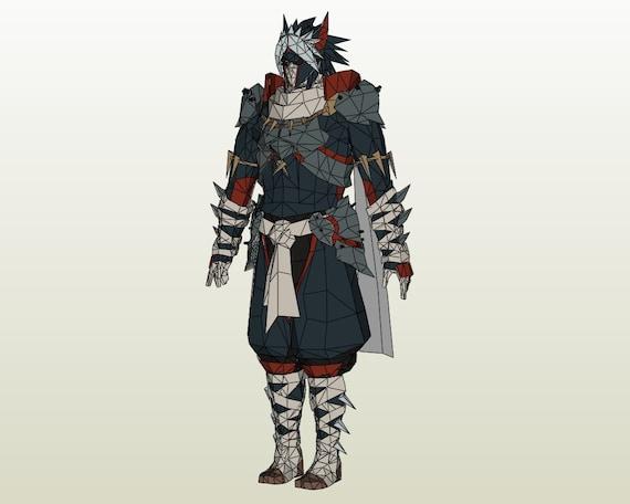 Monster Hunter Gu Low Rank G Rank Silverwind Nargacuga Male Etsy
