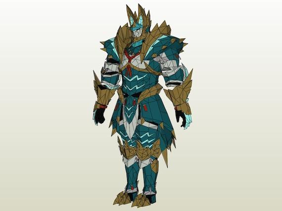 Monster Hunter 4u Gu High Rank Zinogre Ex Male Blademaster Etsy