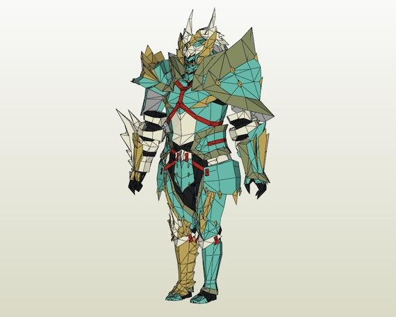 Monster Hunter 4u Gu Low Rank Zinogre Male Blademaster Armor Etsy