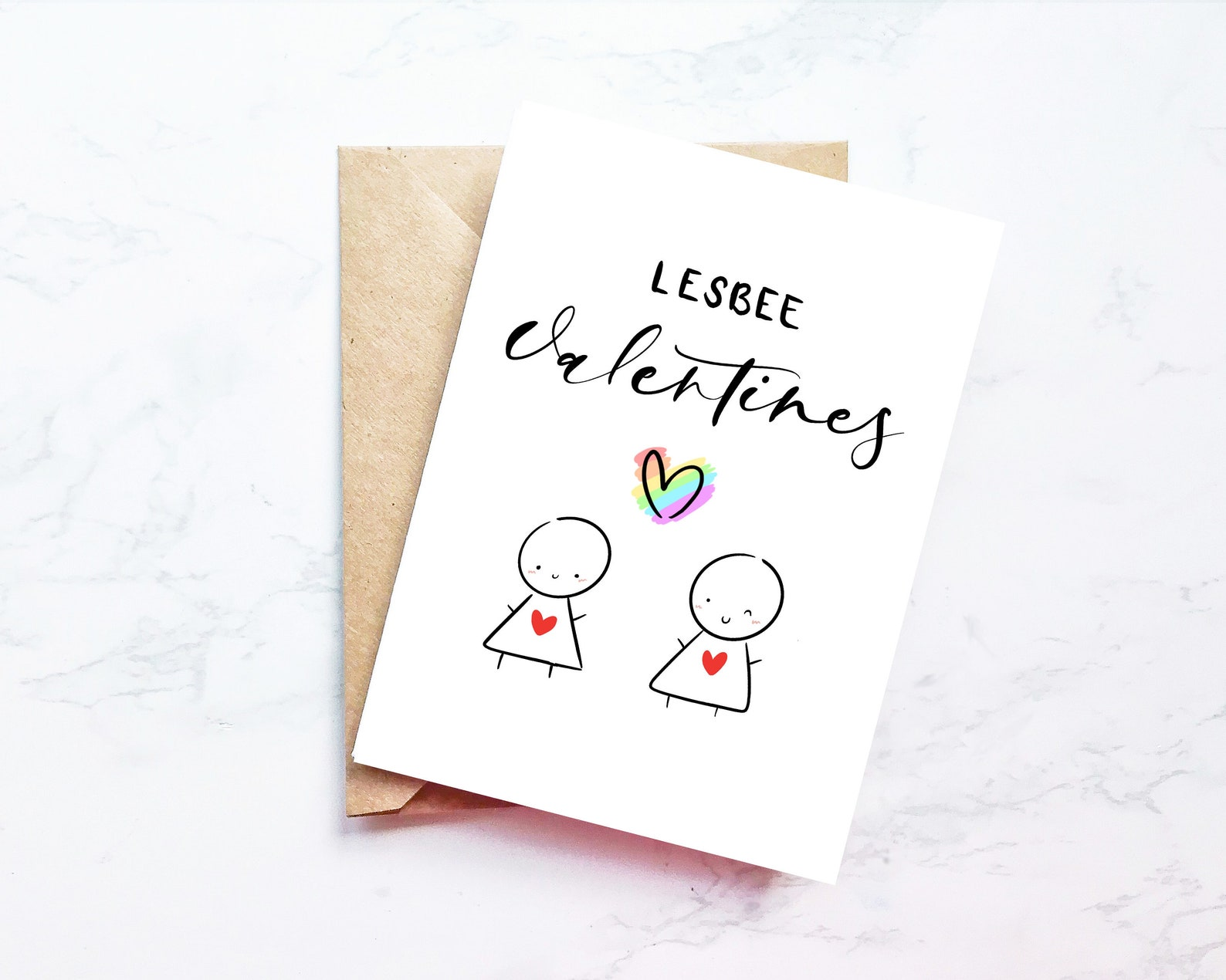 Lesbian Valentines Card Happy Wives Funny Gay Lgbt For