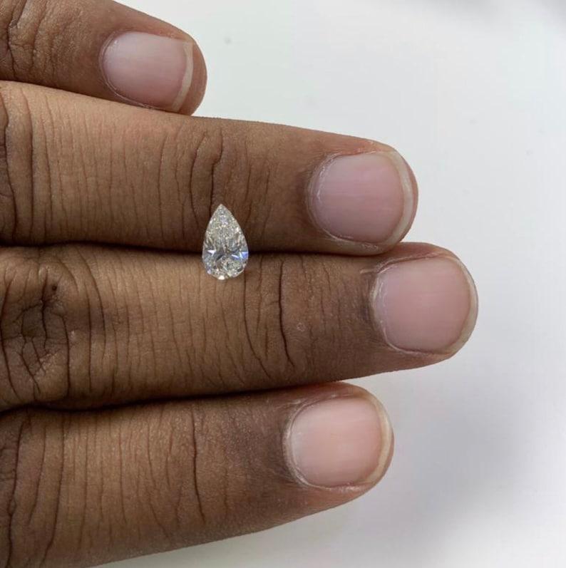 Certified Pear- Cut Diamond Ring Wedding Diamond Ring Three Band Engagement Ring in 18K Rose Gold WT 2.5 CT Diamond Engagement Ring