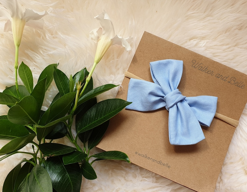 blue bows baby headbands light blue headbands baby blue Powder Blue Baby headband baby headbands headband Jasmine plain solid bows