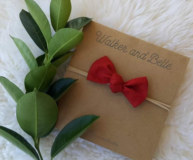 headband australia newborn headbands, baby girl girl bow toddler bow Deep Red free shipping Baby bow newborn headband Valentine