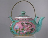 Antique Straits Chinese Peranakan Nyonya Famille Rose Porcelain Teapot Xushunchang Zao