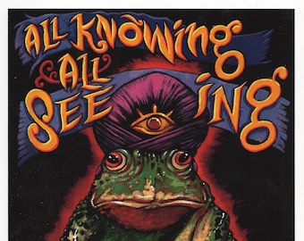 All Knowing All Seeing A4 giclee print