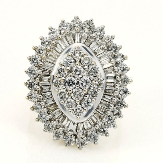 Vintage Diamond Ballerina Ring