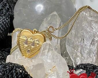 """Vintage 1950's Era Gold Filled Oleet Locket w/18"""" Chain - 1/20 12k"""