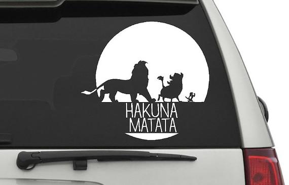 Laptop #2 Disney Lion King Vinyl sticker Hakuna Matata Car Window decal