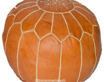 cousue main square sable non rembourrés Grand Marocain Luxueux Design 100/% cuir