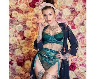 Sheer black or nude mesh bike shorts High waist lace long panties See through plus size lingerie Transparent strainer boyshort Knee length