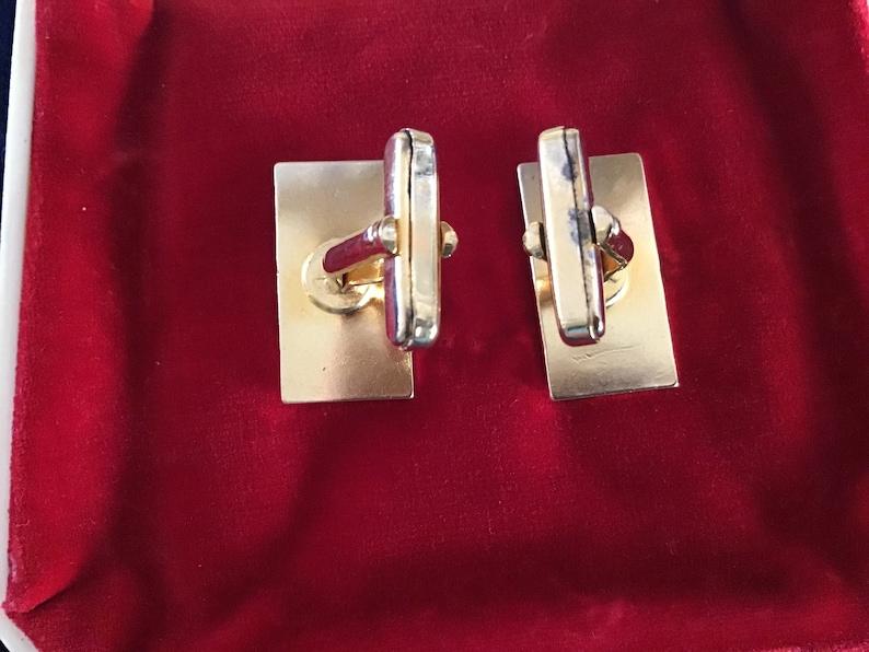 Genuine Lapis Lazuli Cufflinks.Vintage GES.GESCH Cufflinks Imit.Jewellry.Germany Made Lapis Lazuli Cufflinks