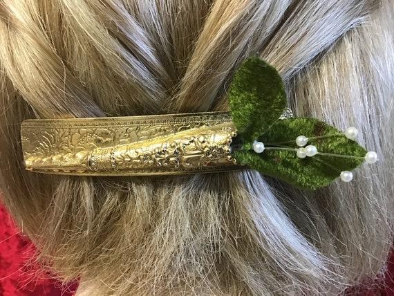 Vintage Barrette Reverse Hair Clip. Vintage France