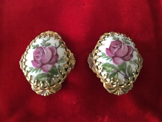 Antique 1930's Rare Clip on Earrings. Germany Clip