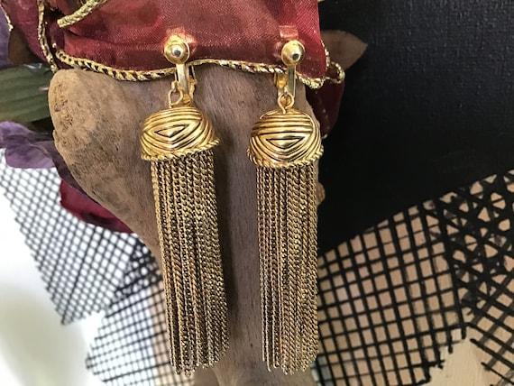 Vintage 40's 50's Chandelier ClipOn Earrings. Bedo