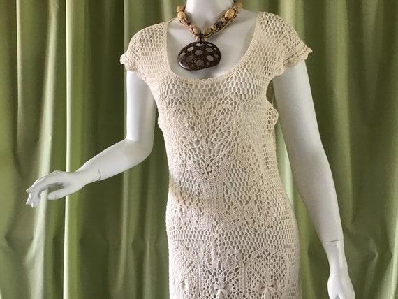 Vintage 80's Crochet Dress. Australian Sydney Bebe