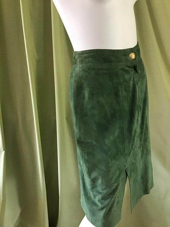70's Vintage Leather Skirt. Extra Soft Leather Ski