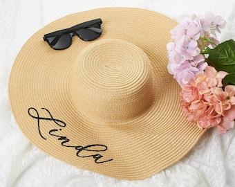 8e363d74 Bachelorette Party Favor Custom Floppy Beach Hat Bridal Party Hat  Bridesmaid Beach Hat Beach Bridesmaid Gift Sun Hat Tropical for Women