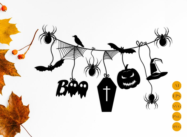 photo about Printable Halloween Silhouettes named Spooky halloween silhouette svg slash document, Halloween household decor, Paper template, Halloween ornament, Printable halloween fastened, Electronic record