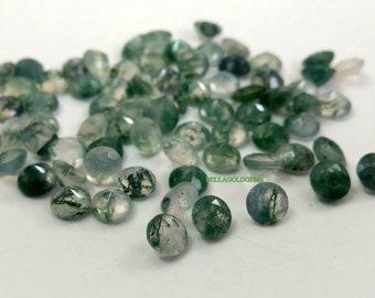Moss Agate Cabochon AAA Quality Designer Moss Agate Gemstone Loose Gemstone Jewelry Making  36x26 MM  37.00 carat