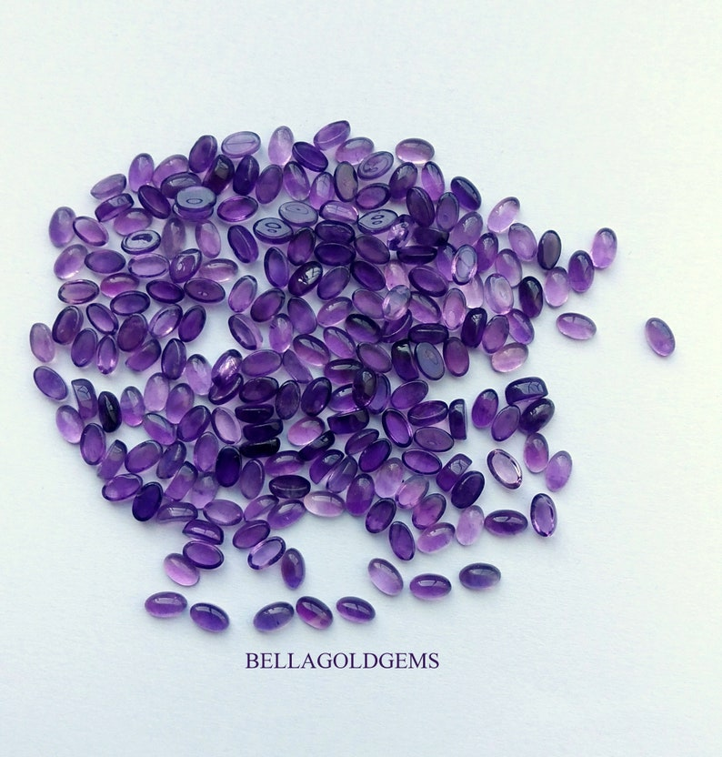 4x6mm  Natural Amethyst Cabochon  Purple Oval Stone Cabochons Cab Stone Jewelry Supplies