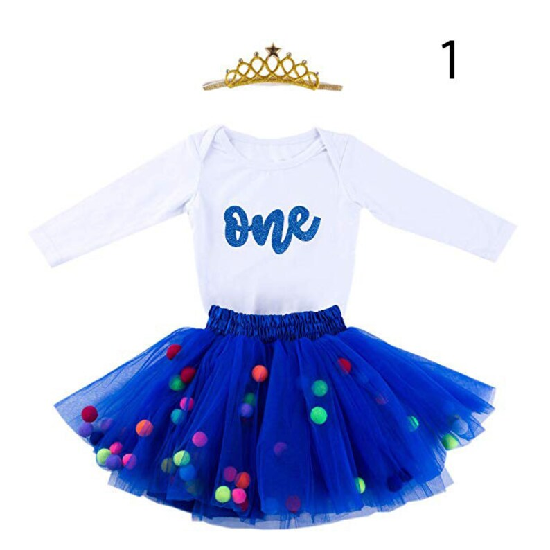 8e8ed1e1a Amaze Labs Baby Girls 1st Birthday Outfit Glitter One Romper | Etsy