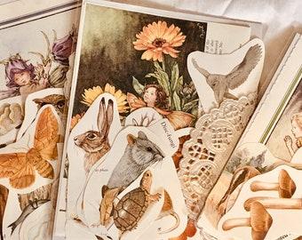 One Ethereal fairy journal kit, Nostalgic woodland fairy ephemera, forest creatures ephemera, fairy junk journal kit, art journal supplies
