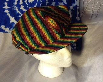 wholesale dealer e56d4 0cee0 Rasta Crochet Cap