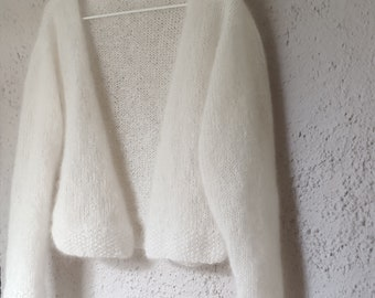 Wedding jacket, wedding bolero, wedding stole, bridal jacket, wedding, bridal, classy yarn, couture, handmade, hand creasing