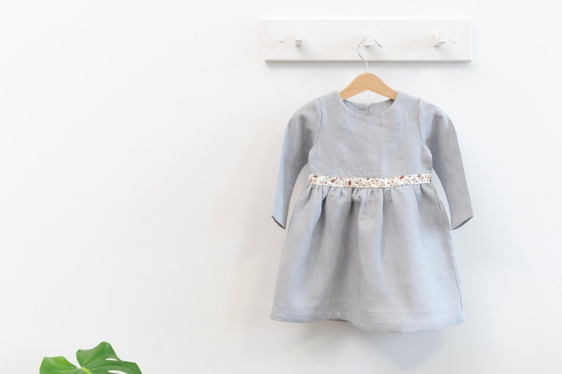 7af193070ff2 Light Blue Linen Baby Dress / Linen Toddler Dress / Linen Girl | Etsy