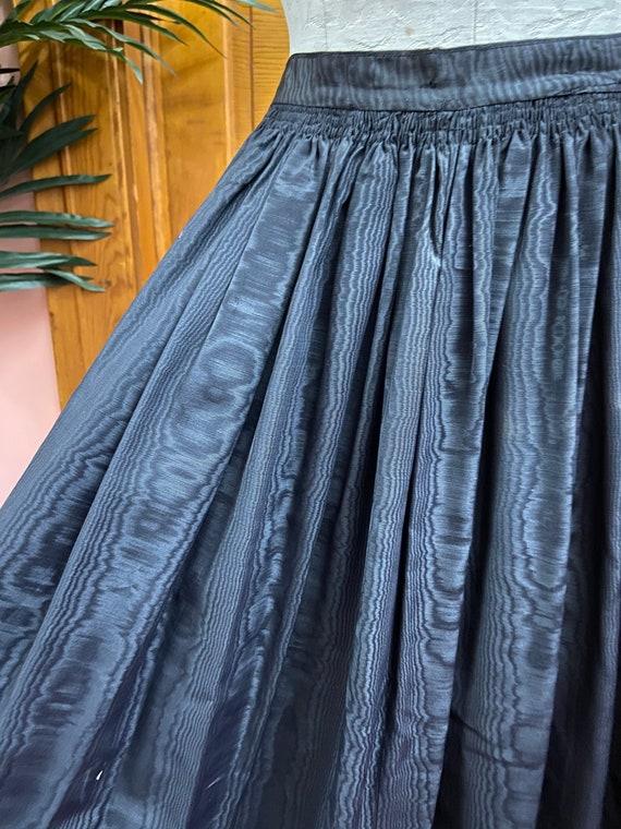 Black Moire Taffeta Vintage 60's Skirt