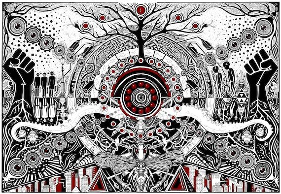 Anarchist Art Art Print Kunstdruck Psychedelicart