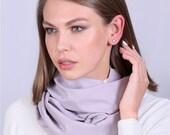 52 Grey Cotton Elegant Mod Womens Scarf Shawl Neckerchief Summer Autumn Soft Fall Colorful Kerchief Style Ladies Shawl Wrap Loop Plaid Warm