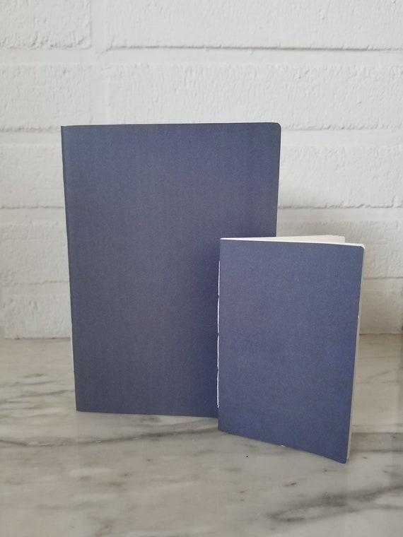 """Quaderni/diari tascali fatti a mano- Copertina """"grigia"""" - Disegno/ Scrittura / Piano"""