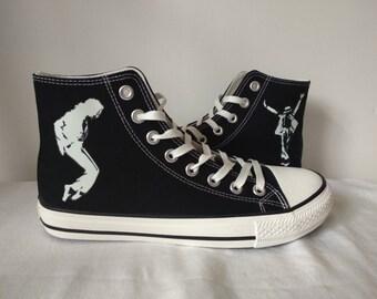 2c26ea8c0c3d Michael Jackson High top Canvas Shoes Michael Jackson Sneakers Sports Shoes  Unisex Casual Shoes Michael Jackson Gifts