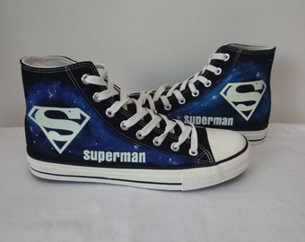 23e3240b58ec Superman High Top Canvas Shoes Superman Sneakers Sports Shoes Unisex Casual  Shoes Superman Gifts
