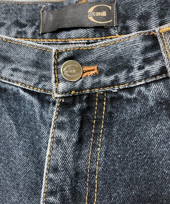 Y2K JUST CAVALLI VINTAGE blue jeans, size 34 dark