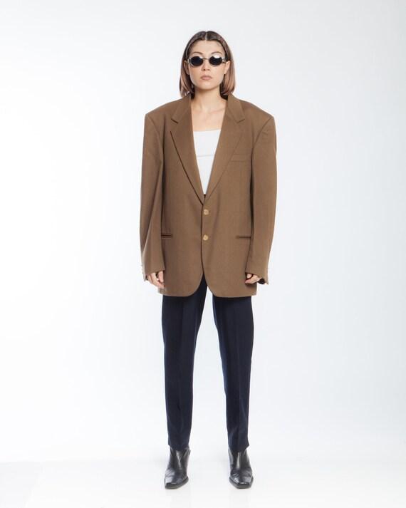 Y2K CAMEL CASHMERE vintage BLAZER, unisex suit jac