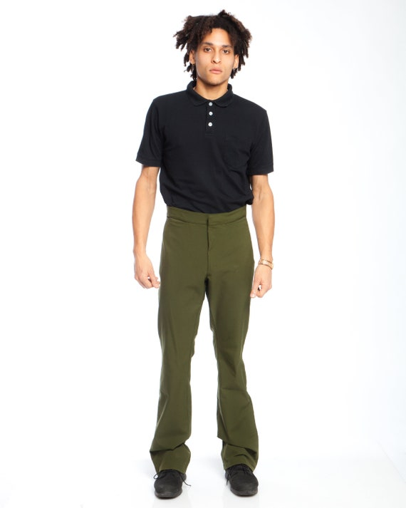 PRADA GREEN TROUSERS, authentic Techno Stretch Pra