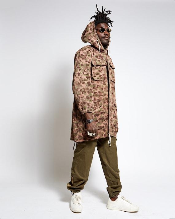 VINTAGE PARKA MILITARY camouflage jacket 1960s ger