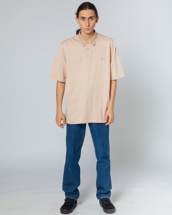POLO RALPH LAUREN  vintage polo shirt, pale pink c