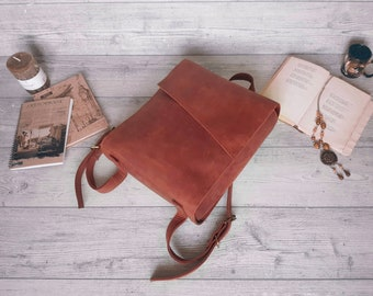 3fcb999155 Leather laptop backpack women Leather rucksack women Leather backpack men  Hipster backpack School backpack Brown backpack