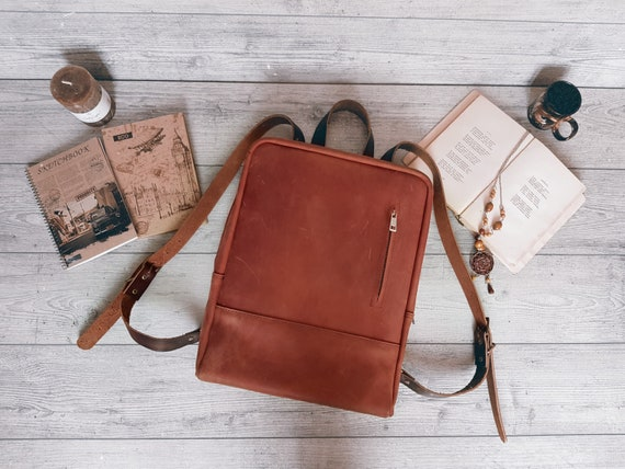 Leather Backpack Women  Leather Laptop Backpack  Leather Backpack  Leather School Bag  Leather Rucksack  Leather Satchel  Personalized