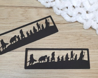 Silhouette bookmark - Fellowship of the ring