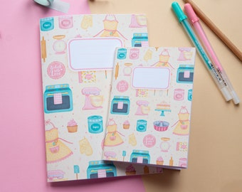 Handmade Patterned A6 or A5 Notebook | Crafthouse By Lidia