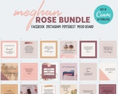 92 Editable Social Media Canva Templates Bundle | Instagram | Facebook | Pinterest | Custom | Free Quotes