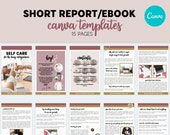 Short Report eBook Canva Template | eBook template | Lead Magnet | Workbook | Done For You | Custom Templates