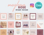40 Editable Social Media Canva Templates Bundle | Instagram | Custom | Free Quotes | Meghan Rose