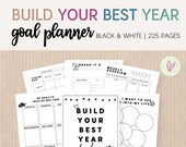 Undated Build Your Best Year Goal Planner Printable | 226 Pages | Full-Year Planner