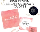 50 Pink Design Beautiful Beauty Quotes Canva Editable Template |Social Media | Instagram | Instant Download